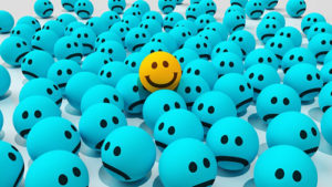 Happiness - Smiley Faces in Crowd